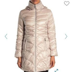 NEW Via Spiga Quilted Puffer Jacket Coat Winter